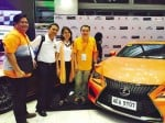 THE LEXUS RCF display was in line with the advocacy color of leukemia.
