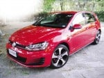 THE SEVENTH-generation Volkswagen Golf GTI in tornado red